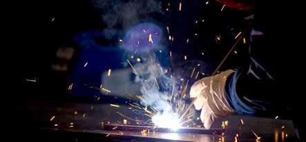 arc welding action shot