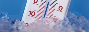 Close up of a thermometer.