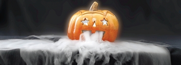 Image of a pumpkin used for Halloween marketing activity.