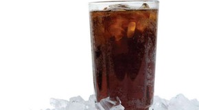 Soda on ice for carbonation & CO2 gas