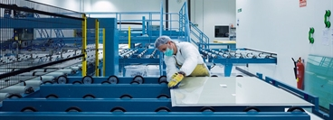 T-Solar manufactures large-scale, state-of-the-art thin-film solar cells at T-Solar Global SA Ourense in Spain