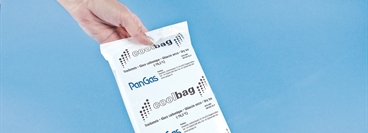 Dry ice coolbag with PanGas signage